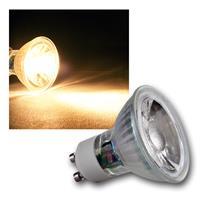 """GU10 LED Strahler """"H50 COB"""" Glas, warmweiß, 400lm"""