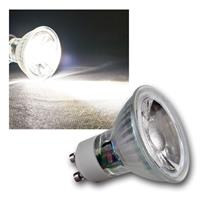 "GU10 LED Strahler ""H50 COB"" Glas, daylight, 420lm"