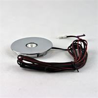 LED Leuchtmittel rund in einem hochwertigem Chromgehäuse und Mini-Steckverbindung