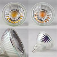 LED Strahler mit MR16 oder GU 10-Sockel und Glasfront