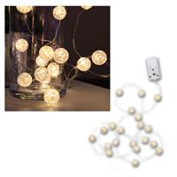 "LED fairy light chain ""balls"", warm white, 190cm"