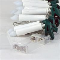 Batterie-Lichterkette mit 10 warmweiß-leuchtenden Topkerzen