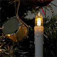 Warmweiße LED Lichterkette mit Topkerzen für Innen oder Außen