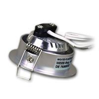 LED Strahler 12V mit nur 30mm Einbau-Höhe und 2 Befestigungsfedern