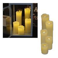 LED Leuchtkerzenset mit Echtwachs, 5-tlg, Kerze