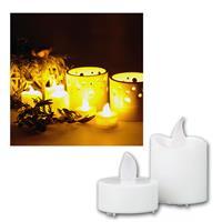 Set of candle, 10x LED tea lights, 6x LED candle
