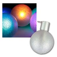 Set of 6 LED Christmas tree baubles, RGB