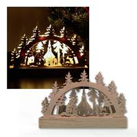 "LED light arch ""Seifner Kirche"" natural wood"