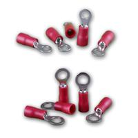 Ringkabelschuhe rot für Kabelquerschnitte von 0,5-1,5mm²