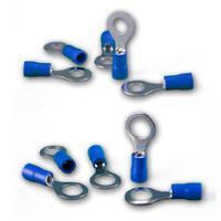 Ringkabelschuhe blau für Kabelquerschnitte von 1,5-2,5mm²