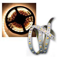 5m SMD LED 3-Chip Streifen 24V warmweiß Lichtband