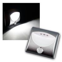 LED stair light with motion detector silver
