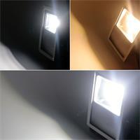 Kalt- oder warmweiß leuchtende LED Fluter-Lampe goobay
