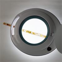 Echt-Glas Lupe mit 3 Dioptrien und LED Beleuchtung