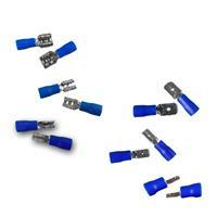 Kabelschuhe 50 Stück Flachsteckhülsen oder Flachstecker blau