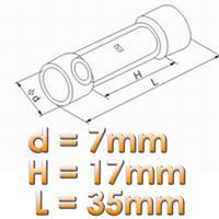 schrumpfbarer Stoßverbinder für Kabel Nennquerschnitt 1,5 bis 2,5mm²