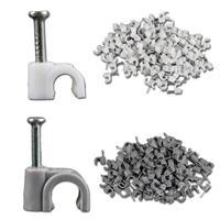 100er Set Kabelschellen in grau oder weiß und verschiedenen Größen