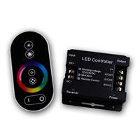 RGB LED controller with touch remote control, 3x6A