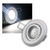 8er SET MR11 LED Einbaustrahler WEISS kw je 8 LED