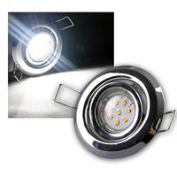 8er SET MR11 LED Einbaustrahler CHROM kw je 8 LED