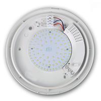 LED Wohnraumlampe mit matter Abdeckung und weißen Außenring