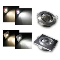 LED downlight | 12VDC | 3W CREE high power | round/square
