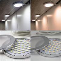 Aufbauleuchte mit 3W-starken LEDs in warm- oder kaltweiß