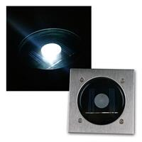 Solar LED Bodenstrahler CTB-E | eckig | Edelstahl-Front