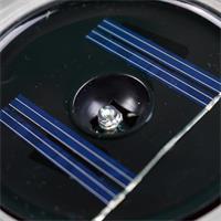 LED Solar-Bodenleuchte mit dem Maß 10x10x4mm (LxBxT) ideal als Orientierungslicht