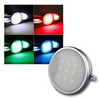 4er Set LED Aufbauleuchten RGB bunt, Fernbedienung