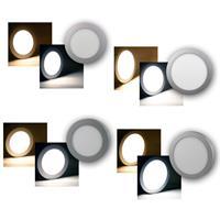 LED Licht-Panel RUND | Ø 180/240mm | Einbau/Aufbau | 10/15W