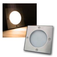LED Bodeneinbauleuchte eckig warmweiß 220lm 3W