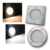 Floor light | square/round | 3W | IP65 | warm white/daylight