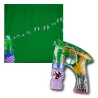 Soap bubble gun with LED, incl. Batteries