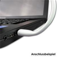 USB-Computerleuchte für 5VDC und mit nur 1,2W Verbrauch, Montagebeispiel