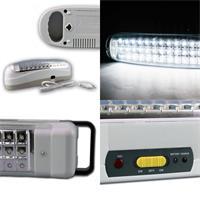 Notleuchte mit 30, 36, 51 oder 72 kaltweißen LEDs