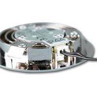 LED-Einbauleuchte mit Metallgehäuse in Chrom-Optik