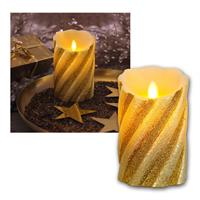 LED-Wachskerze Twinkle Flame golden bewegl. Flamme