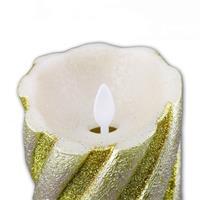 LED-Wachskerze Twinkle Flame golden 13 x 8 cm