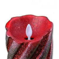 LED-Wachskerze Twinkle Flame rot mit beweglicher Flamme