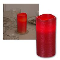 LED candle Linda, red, 15x7,5cm, timer function