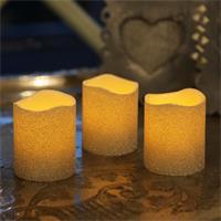 Flackernde LED Wachskerzen in silber oder gold