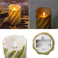 Batteriebetriebene LED-Wachskerze Twinkle Flame in 3 Farben