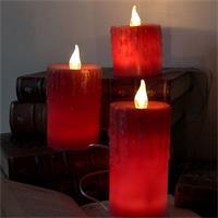 LED-Wachskerzen 3er Set mit warm-weißem Licht