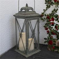 Laterne mit LED Kerze ideal für Innen- und Außenbereich