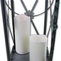 zwei wetterfeste LED Kerzen mit Flackerlicht und Timer