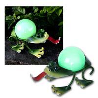 "Solar LED Dekoration ""Frosch"", 13x21cm, kaltweiß"