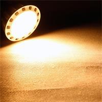 MR16 LED Strahler mitl der Leuchtfarbe warm weiß und 345 Lumen