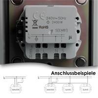 Touchless Schalter ist passend für Hohlraumdosen Ø 50mm