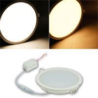 Runde LED-Panels in 2 Leuchtfarben und 3 Größen